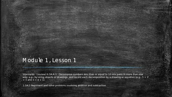 Eureka Math Grade 1, Module 1, Lesson1