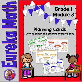 Eureka Math Grade 1 Module 3 - Planning Cards with material lists included