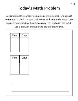 Eureka Math Grade 1 Module 4 Application Problem Journal