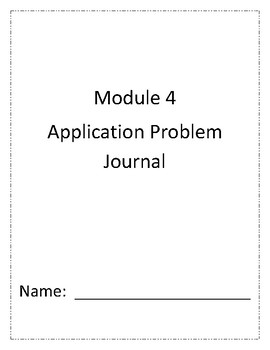Eureka Math Grade 1 Module 4 Application Problem Journal