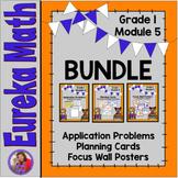 Eureka Math Grade 1 Module 5 BUNDLE Resources for organizi