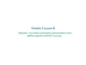 Eureka Math Grade 2 Module Lesson 8 powerpoint