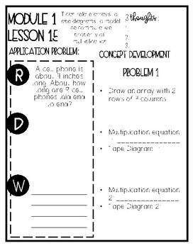 Eureka Math Grade 3 Mod 1 Lesson 15 Guided Notes