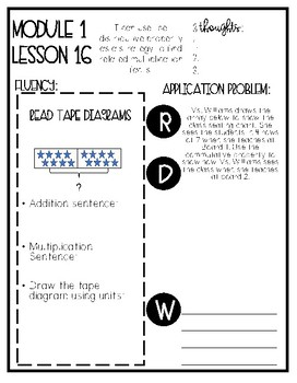 Eureka Math Grade 3 Mod 1 Lesson 16 Guided Notes