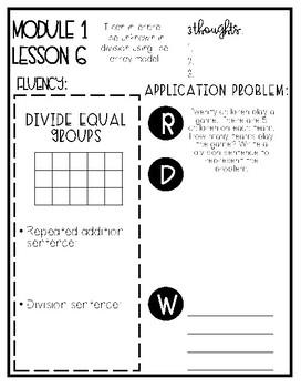 Eureka Math Grade 3 Mod 1 Lesson 6 Guided Notes
