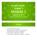 Eureka Math - Grade 3 - Module 1 - Topics A, B, and C Less