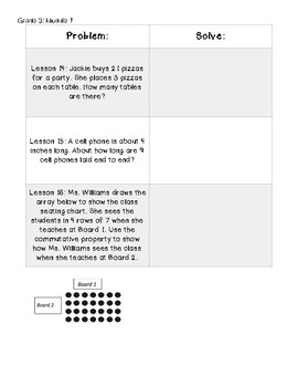Eureka Math Grade 3 Module 1 Application Problems