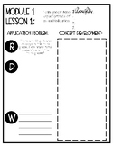 Eureka Math Grade 3 Module 1 Lesson 1 Note sheet/Interacti