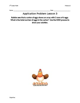 Eureka Math Grade 3 Module 1 Lessons 1-10 Application Problems