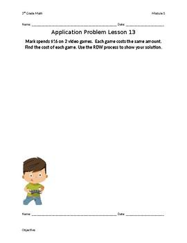 Eureka Math Grade 3 Module 1 Lessons 11-21 Application Problems