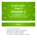 Eureka Math - Grade 3 - Module 1 - Topics D, E, and F Less