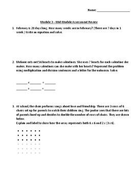 Eureka Math - Grade 3 - Module 3 Mid Module Assessment Review