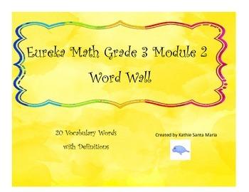 Eureka Math Grade 3 Module 2 Word Wall Vocabulary