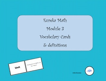 Eureka Math Grade 3 Module 3 Word Wall Vocabulary