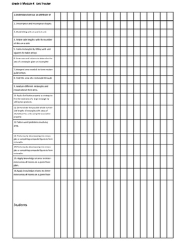 Eureka Math Grade 3 Module 4 Exit Ticket Tracker