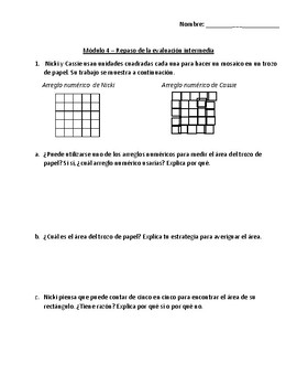 Eureka Math - Grade 3 - Module 4 Mid Module Assessment Review Spanish/English