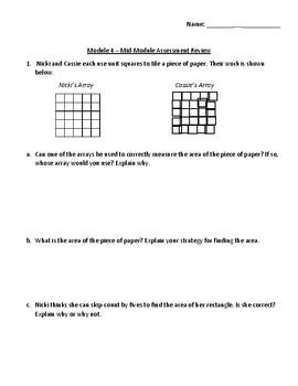 Eureka Math - Grade 3 - Module 4 Mid Module Assessment Review Spanish/English