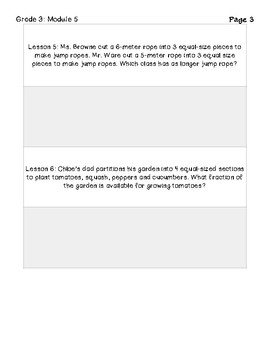 Eureka Math Grade 3 Module 5 Application Problems