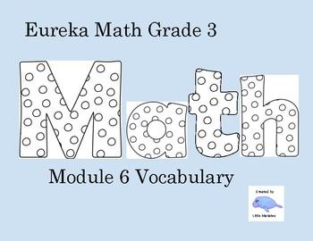 Eureka Math Grade 3 Module 6 Word Wall