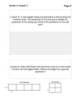 Eureka Math Grade 3 Module 7 Application Problems