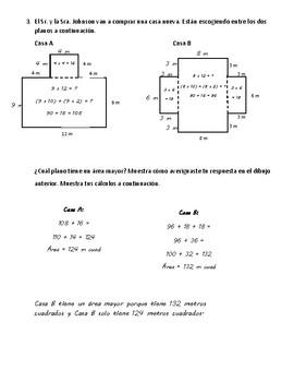 Eureka Math - Grade 3 - Module 4 End of Mod Assessment Review Spanish/English