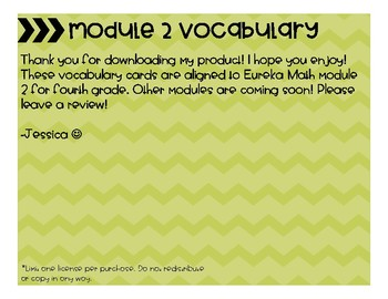 Eureka Math Grade 4 Module 2 Vocabulary