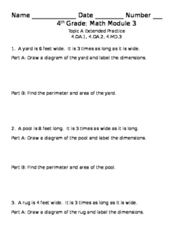 Eureka Math Grade 4 Module 3 Lesson 2 and 3 Practice Problems
