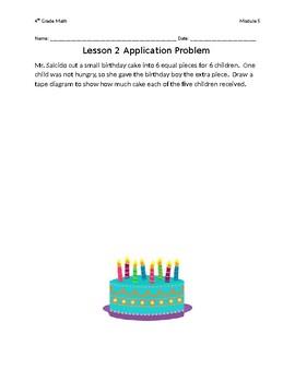 Eureka Math Grade 4 Module 5 Lessons 1-21 Application Problems