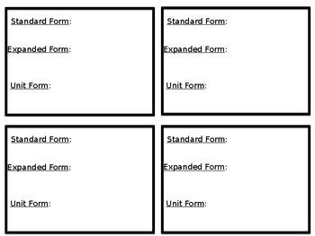 Eureka Math Grade 5 Module 1 Lesson 5 Notebook Insert