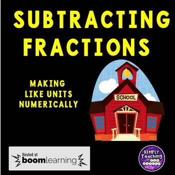 Eureka Math Grade 5 Module 3 Lesson 11 Subtracting Fractions Digital Boom Cards