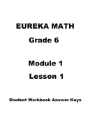 Engage NY - Eureka Math Grade 6 Module 1 Lesson 1 Student Workbook Answer Keys