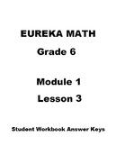 Engage NY - Eureka Math Grade 6 Module 1 Lesson 3 Student Workbook Answer Keys