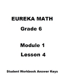 Engage NY - Eureka Math Grade 6 Module 1 Lesson 4 Student Workbook Answer Keys