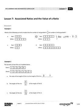 Eureka Math Grade 6 Module 1 Lesson 7 Student Workbook Answer Keys