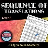 Sequence of Translations Worksheet