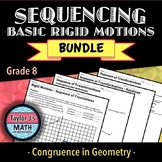 Sequencing Basic Rigid Motions Worksheet Bundle