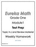 Eureka Math/Engage NY Grade One Module 1 Homework Test Prep
