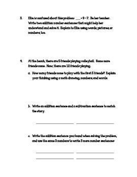 Eureka Math Grade One Module 1 Pretest