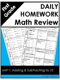 Eureka Math Grade One Module 1 Weekly Homework