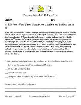 Eureka Math First Grade Module 4 Parent Progress Letter