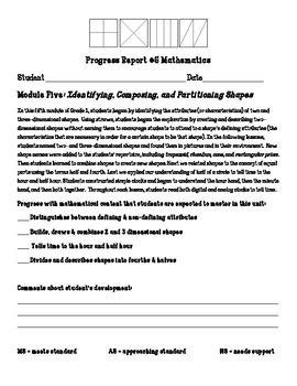 Eureka Math First Grade Module 5 Parent Progress Letter
