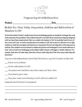 Eureka Math First Grade Module 6 Parent Progress Letter
