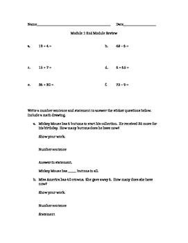 Eureka Math Great Minds Second Grade Module 1 End Module Review Assessment