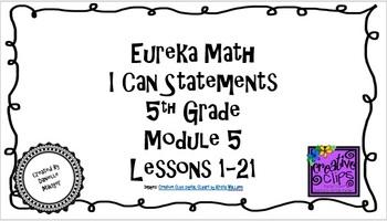 "Eureka Math/Engage NY - ""I Can"" Statements 5th Grade Module 5"