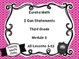 Eureka Math I Can Statements Third Grade - Module 2