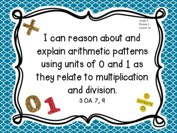 Eureka Math I Can Statements Third Grade - Module 3