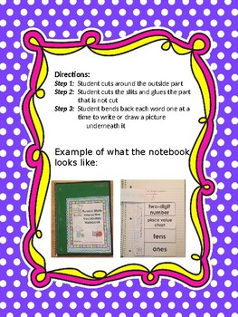 Eureka Math Interactive Vocabulary Notebook Complete Module 4 First Grade