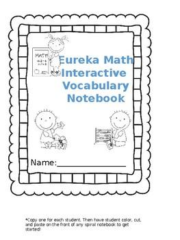 NY Eureka Math Interactive Vocabulary Notebook All of Module 4 First Grade