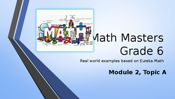 Eureka Math (Engage NY) Introductory PowerPoint - Gr 6, M2, TA: Div of Fractions