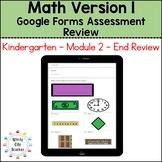 Eureka Math Kindergarten End of Module 2 Review - Google Forms Distance Learning